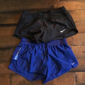 2 Nike Dry fit running shorts, M